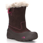 The North Face Shellista Pull-On II Girls Boots, Demitasse Brown-Luminous Pink, medium