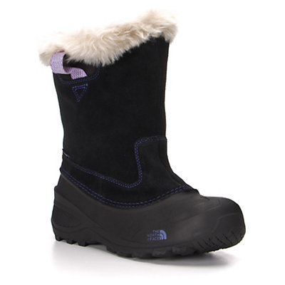 The North Face Shellista Pull-On II Girls Boots, Demitasse Brown-Luminous Pink, viewer