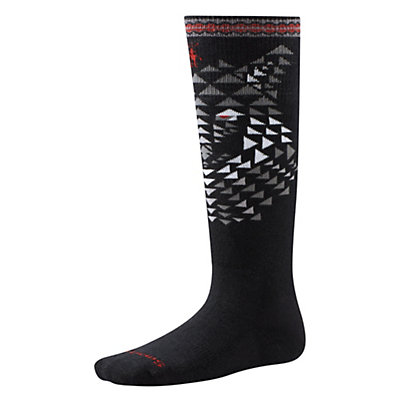 SmartWool Wintersport Wolf Kids Ski Socks, Black, viewer