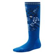 SmartWool Wintersport Wolf Kids Ski Socks, Bright Blue, medium