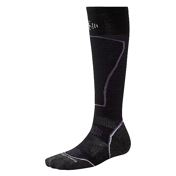 SmartWool PhD Ski Light Womens Ski Socks, Black, 600
