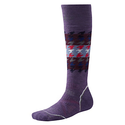 SmartWool PHD Snowboard Medium Womens Ski Socks, Desert Purple, viewer