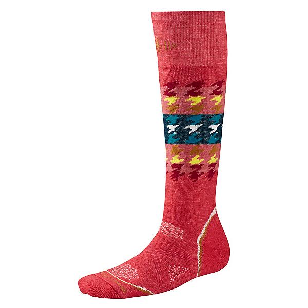 SmartWool PHD Snowboard Medium Womens Ski Socks, Hibiscus, 600