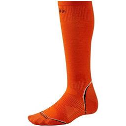 SmartWool Ultra-Light Ski Socks, Bright Orange, 256