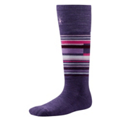 SmartWool Wintersport Stripe Kids Ski Socks, Desert Purple, medium