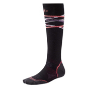 SmartWool PHD Ski Ultra Light Womens Ski Socks, Black-Port, medium