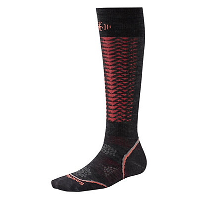 SmartWool PHD Downhill Racer Womens Ski Socks, Charcoal, viewer