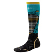 SmartWool PHD Ski Medium Pattern Womens Ski Socks, Black-Capri, medium
