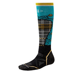 SmartWool PHD Ski Medium Pattern Womens Ski Socks, Black-Capri, 256