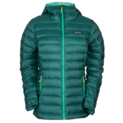 Patagonia Down Sweater Hoody Womens Jacket, Arbor Green, medium