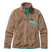 Patagonia Re-Tool Snap-T Pullover Womens Mid Layer, Light Sesame-Bear Brown X Dye, medium