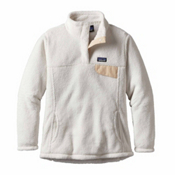 Patagonia Re-Tool Snap-T Pullover Womens Mid Layer, Raw Linen-White X Dye, medium