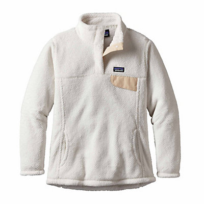 Patagonia Re-Tool Snap-T Pullover Womens Mid Layer, Raw Linen-White X Dye, viewer