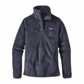 Patagonia Re-Tool Snap-T Pullover Womens Mid Layer, Prussian Blue-Smolder Blue, medium