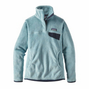 Patagonia Re-Tool Snap-T Pullover Womens Mid Layer, Tubular Blue, medium