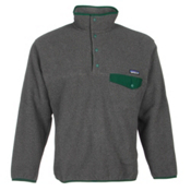 Patagonia Synchilla Snap-T Pullover Mens Mid Layer, Nickel-Hunter Green, medium