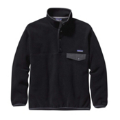 Patagonia Synchilla Snap-T Mens Mid Layer, Black-Forge Grey, medium