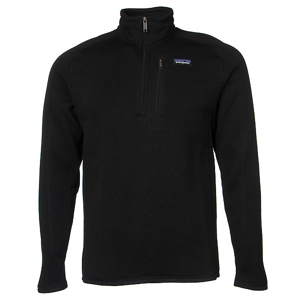 Patagonia Better Sweater 1/4 Zip Mens Mid Layer, Black, 600