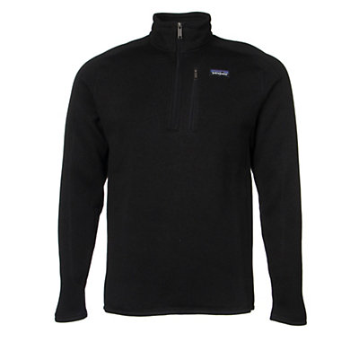 Patagonia Better Sweat 1/4 Zip Mens Mid Layer, Black, viewer