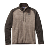 Patagonia Better Sweat 1/4 Zip Mens Mid Layer, Pale Khaki-Dark Walnut, medium