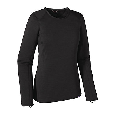 Patagonia Capilene Thermal Crew Womens Long Underwear Top, Black, viewer