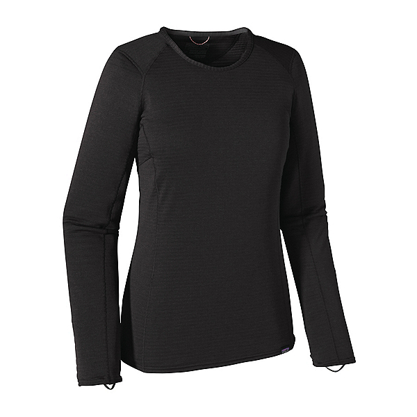 Patagonia Capilene Thermal Crew Womens Long Underwear Top, Black, 600