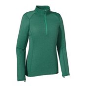 Patagonia Capilene Thermal Zip Neck Womens Long Underwear Top, Arbor Green-Aqua Stone X Dye, medium