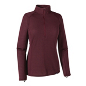 Patagonia Capilene Thermal Zip Neck Womens Long Underwear Top, Deep Mahogany-Oxblood Red X Dy, medium