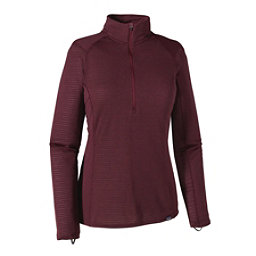Patagonia Capilene Thermal Zip Neck Womens Long Underwear Top, Deep Mahogany-Oxblood Red X Dy, 256
