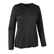 Patagonia Capilene Midweight Crew Womens Long Underwear Top, Black, medium