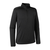 Patagonia Capilene Thermal Zip Neck Mens Long Underwear Top, Black, medium