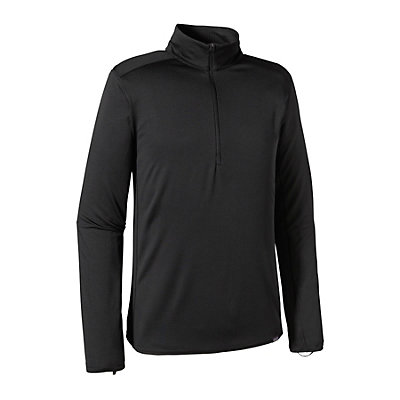 Patagonia Capilene Thermal Zip Neck Mens Long Underwear Top, Black, viewer