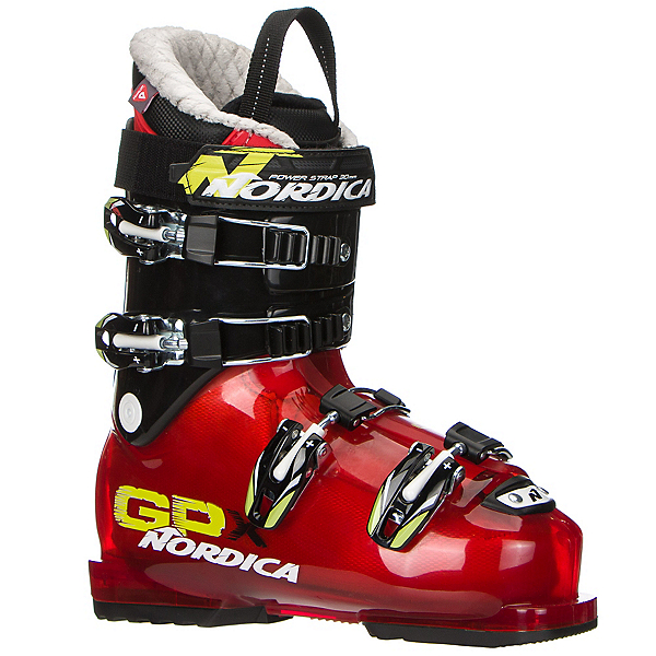 Nordica GPX 70 Kids Ski Boots, Red-Black, 600