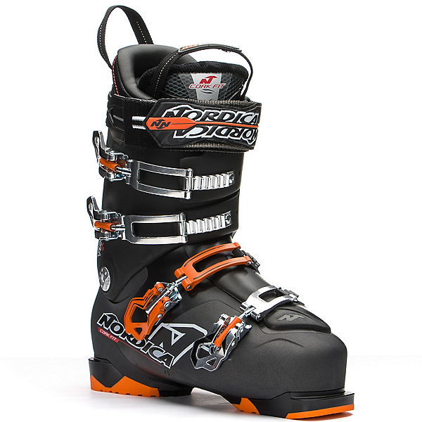 Nordica NRGy Pro 4 Ski Boots, Black-Orange, 600