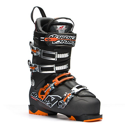 Nordica NRGy Pro 4 Ski Boots, Black-Orange, viewer