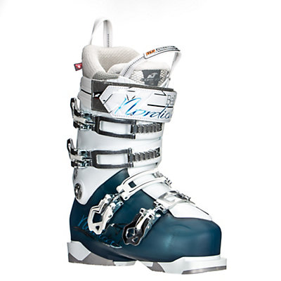 Nordica Belle Pro 95 Womens Ski Boots, Light Blue-Black, viewer