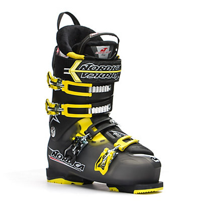 Nordica NXT N1 Ski Boots, Black-Yellow, viewer