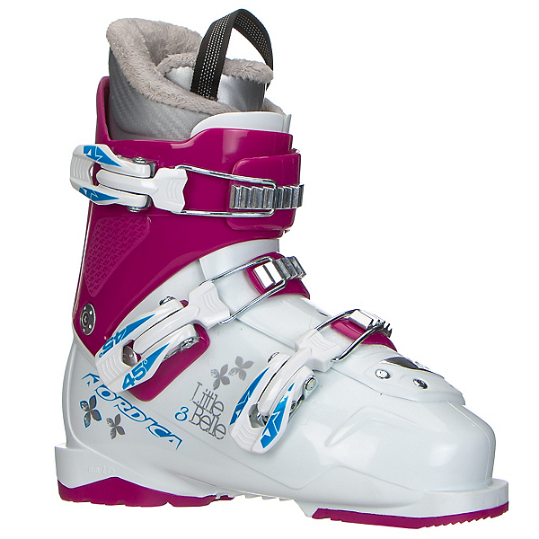 Nordica Little Belle 3 Girls Ski Boots 2017, White-Purple, 600