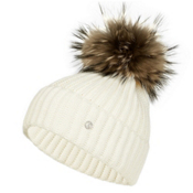 Bogner Leonie Womens Hat, Off White, medium