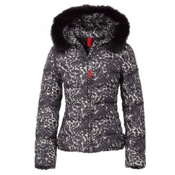 Bogner Fire + Ice Xenia2 Down Womens Jacket, Black Leopard, medium