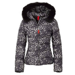 Bogner Fire + Ice Xenia2 Down Womens Jacket, Black Leopard, 256