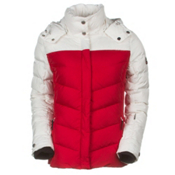 Bogner Fire + Ice Sally D Womens Insulated Ski Jacket, Fire Red-Marble White, medium