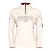 Dale Of Norway Holmenkollen Feminine Womens Sweater, Off White-Raspberry-Metal, medium