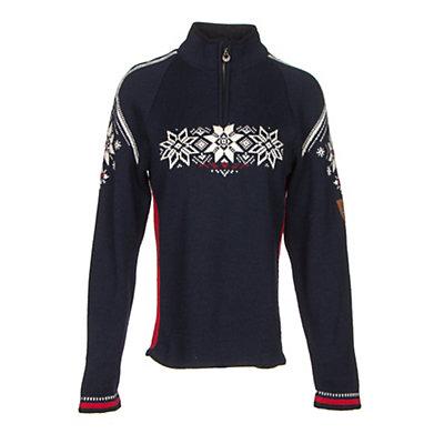 Dale Of Norway Holmenkollen Feminine Womens Sweater, Off White-Raspberry-Metal, viewer