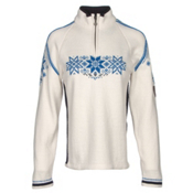 Dale Of Norway Holmenkollen Feminine Womens Sweater, Off White-Navy-Cobalt, medium