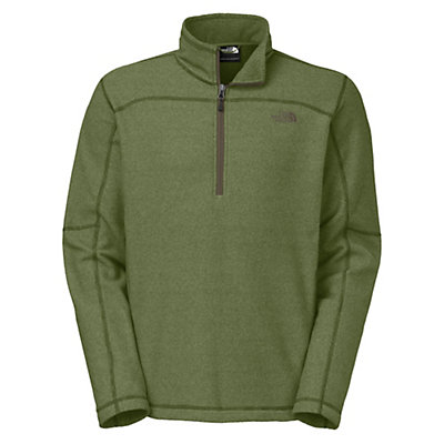 The North Face Texture Cap Rock 1/4 Zip Mens Mid Layer, Scallion Green, viewer