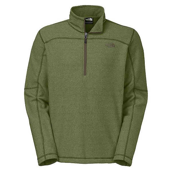 The North Face Texture Cap Rock 1/4 Zip Mens Mid Layer, Scallion Green, 600