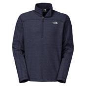 The North Face Texture Cap Rock 1/4 Zip Mens Mid Layer, Cosmic Blue-TNF White, medium