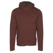 The North Face Gordon Lyons Mens Hoodie, Sequoia Red Heather-Asphalt Gr, medium