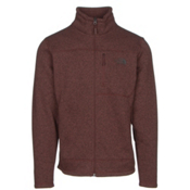 The North Face Gordon Lyons Full Zip Mens Jacket, Sequoia Red Heather-Asphalt Gr, medium